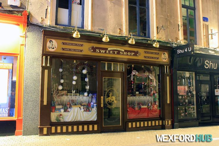 Auntie Nellie's Sweet Shop in Wexford. Previously, this was the location of Kelly's Bakery.