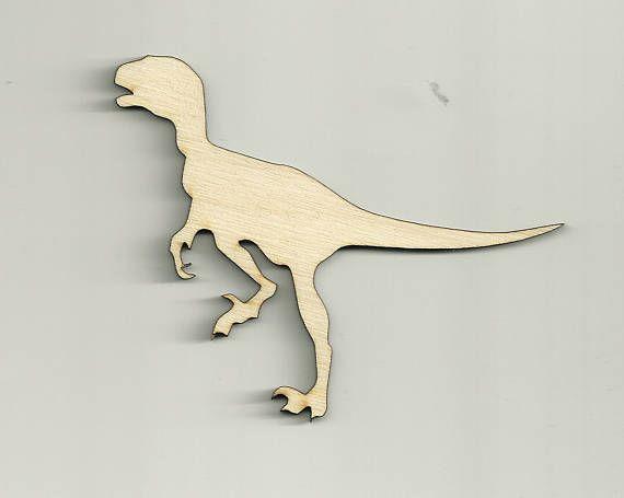 Velociraptor Dinosaur Craft Shape Cutout Baby Mobile Wood