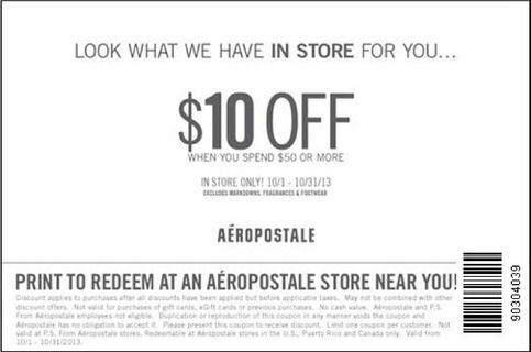 Aeropostale Coupon Codes, Printable coupons, and Promo Codes