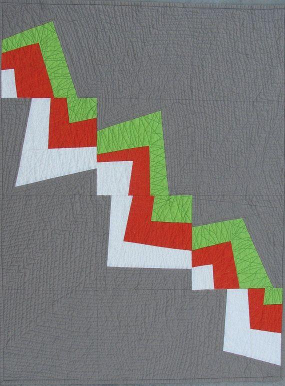 Modern Quilt Pattern, Improv Pieced Pattern, Flash Burn Quilt Digital Pattern