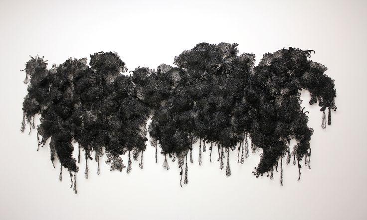 Sim Seung Wook. Black-Gravity-2011-hot-melt-glue-Installation-dimensions-variable.jpg (1444×868)