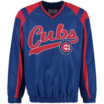 Men's Chicago Cubs G-III Sports by Carl Banks Royal Heavy Hitter Pullover Jacket
