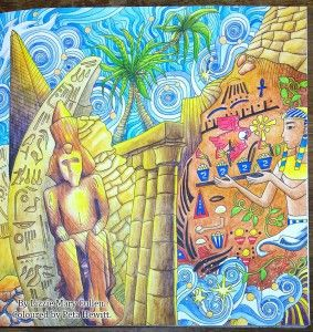 Enchantedforest Egypt Magical City By Peta Hewitt ColouringColoring BooksAdult
