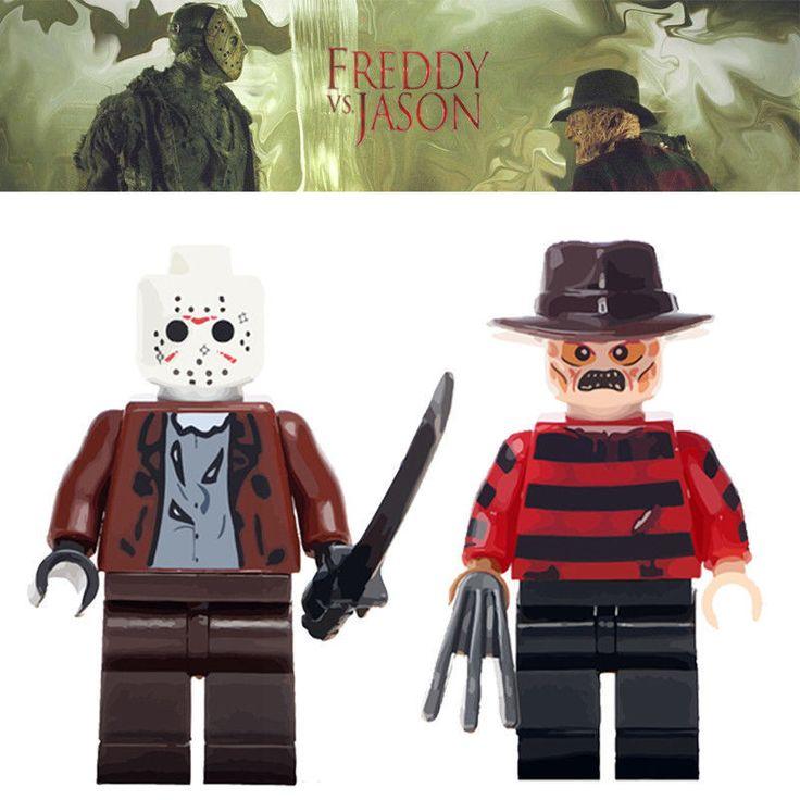 2PCS/lot Horror Minifigures Freddy Jason Action Scary