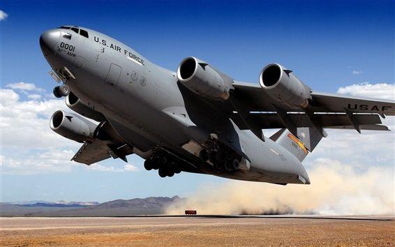 Transporte decolagem de aeronaves militares
