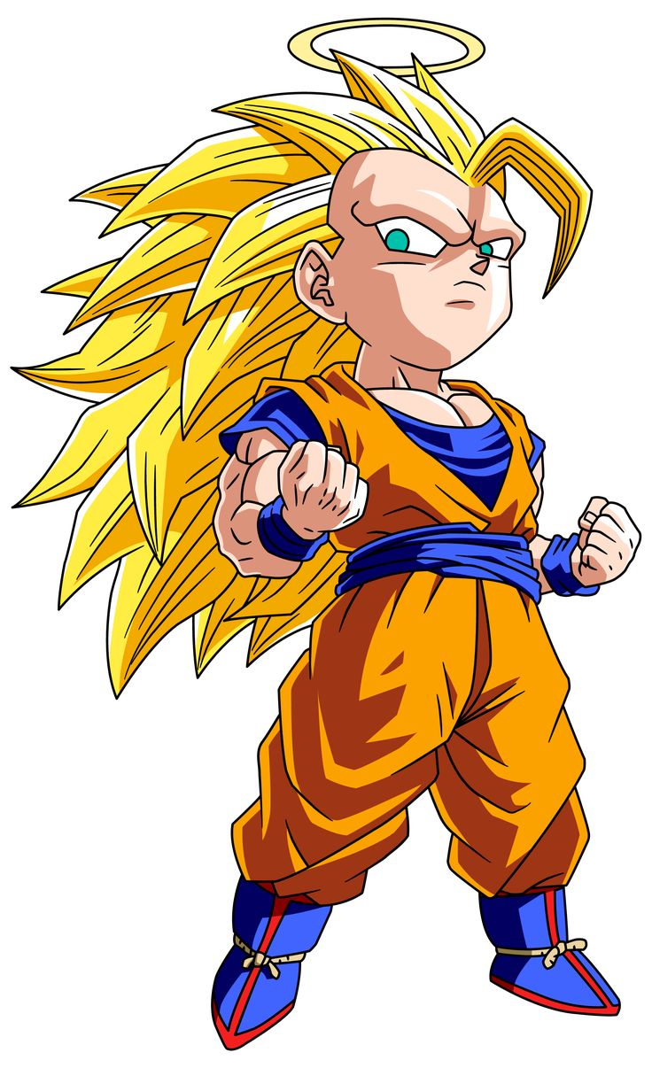 Cute little Super Saiyan 3 Goku <3 - Visit now for 3D Dragon Ball Z shirts now on sale!