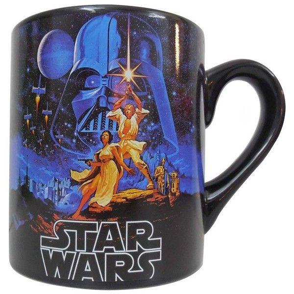 Star Wars Mug ($10) ❤ liked on Polyvore featuring home, kitchen & dining, drinkware, food, kitchen, mugs, star wars, star wars mug and wizard of oz mug