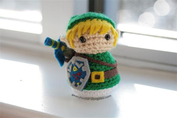 Link Crochet Pattern Zelda : Crochet Hack for Link from Legend of Zelda, using a ...