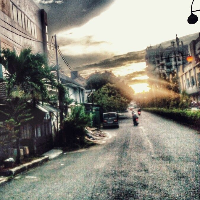 Road - West Jakarta. HDR & Dramatic Effect.