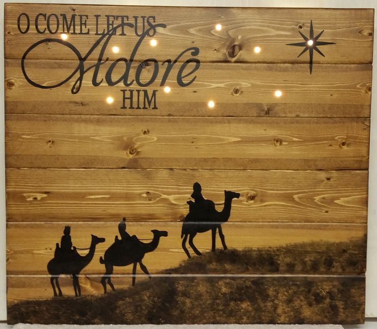 Oh Come Let Us Adore Him Wood Signs Christmas Signs Wood: 181 Best Christmas Wood Signs Images On Pinterest
