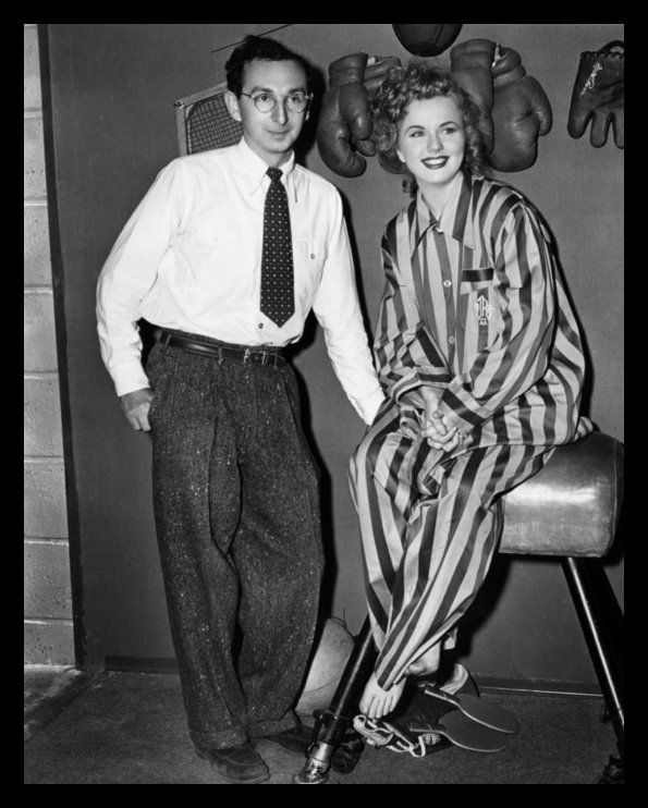 "Charles David & Deanna Durbin during the production of ""Lady On A Train""...her husband of more than 48 years, Charles David, died in Paris on March 1, 1999."
