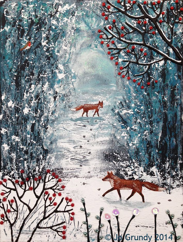 'Wait for Me' by Jo Grundy - mixed media on canvas