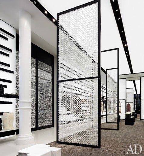 Architect Peter Marino employed a starkly contrasting palette for the Chanel store in New York's SoHo district.