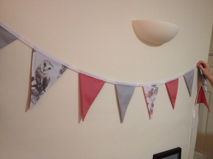 Not technically mine, but I help a friend make this gorgeous bunting to match her nieces bedroom.