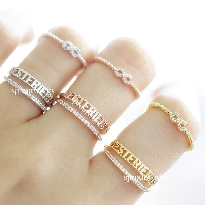 bestfriend ring, infinity ring, best friends ring, friendship ring, girls ring, infinity best friends ring, adjustable ring, best friends by sproutworks on Etsy