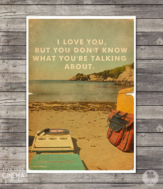 Moonrise Kingdom Poster I - Wes Anderson - Vintage Style Magazine Print movie quotes Cinema Studio Watercolor Background - Pick your Size