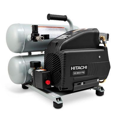 Hitachi 2-HP 135-PSI 4-gal Electric Twin Stack Air Compressor