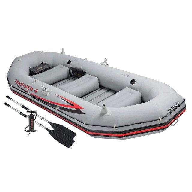 Barca hinchable para 4. Marca Intex. Con remos de aluminio + hinchador.
