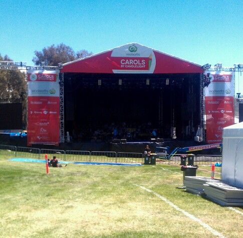 Carols by Candlelight - final preparations underway for the event tomorrow on 15/12/2013 #adelaidecarols #adelaide #southaustralia