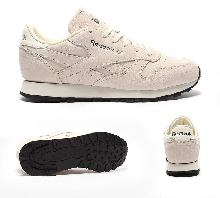 Womens Classic Leather Exotic Trainer
