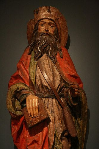 st. james the greater. patron saint of galicia and the great pilgrimage route there. german work.
