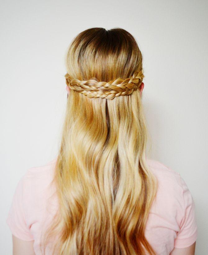 Half-Up Braided Crown // HLL