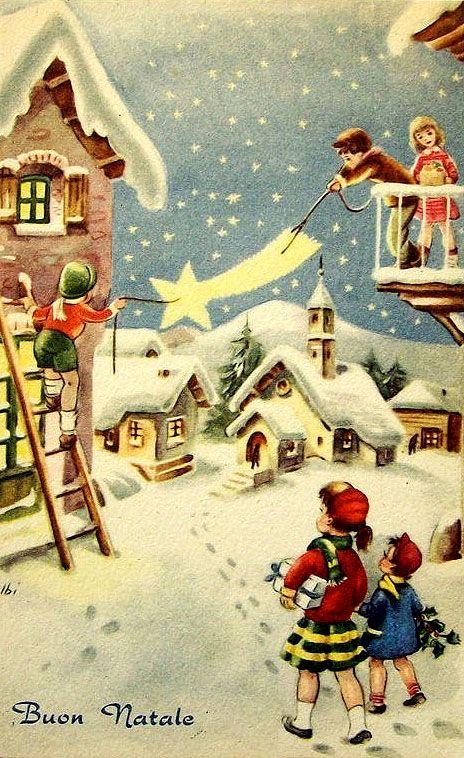 Buon Natale - Vintage Christmas Card