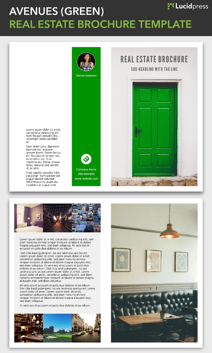 17 best images about lucidpress templates brochures avenues green real estate brochure template via lucidpress see more real