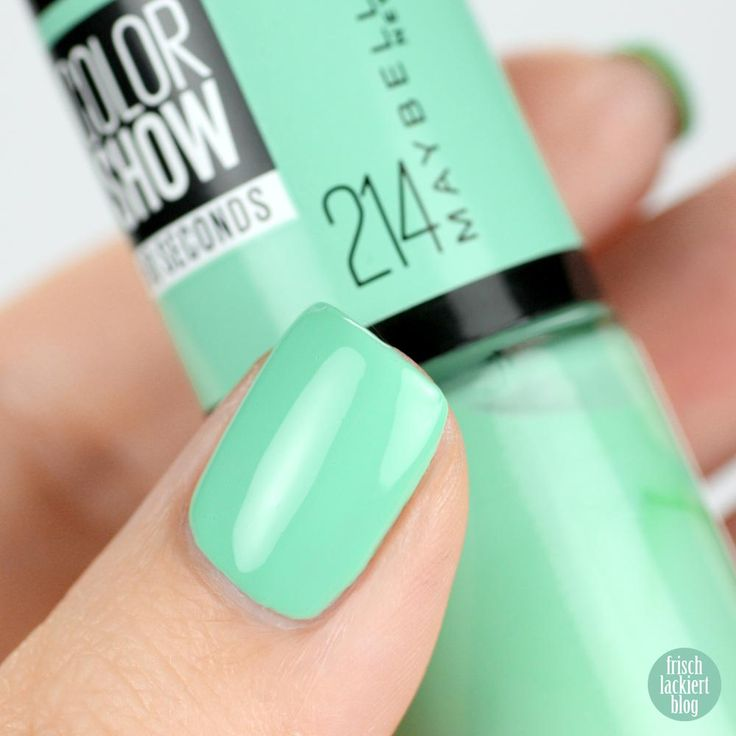 Maybelline ColorShow – Green With Envy 214 – swatch by frischlackiert #nailpolish #maybelline #colorshow #makecolorhappen #mnymakeithappen #nagellack #blogger