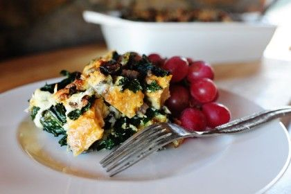 I love make-ahead breakfast casseroles, also known as strata, also known as Breakfast Bread Pudding, also known as I Don't Care What It's Called, I Just Want to Eat It. There are thousa…