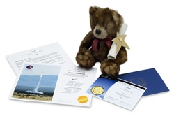 This is our Star Bear Gift Set, complete with cuddly teddy and 5 x 7 inch printed certificate. You'll also receive a full size digital version of the certificate.    $39.95