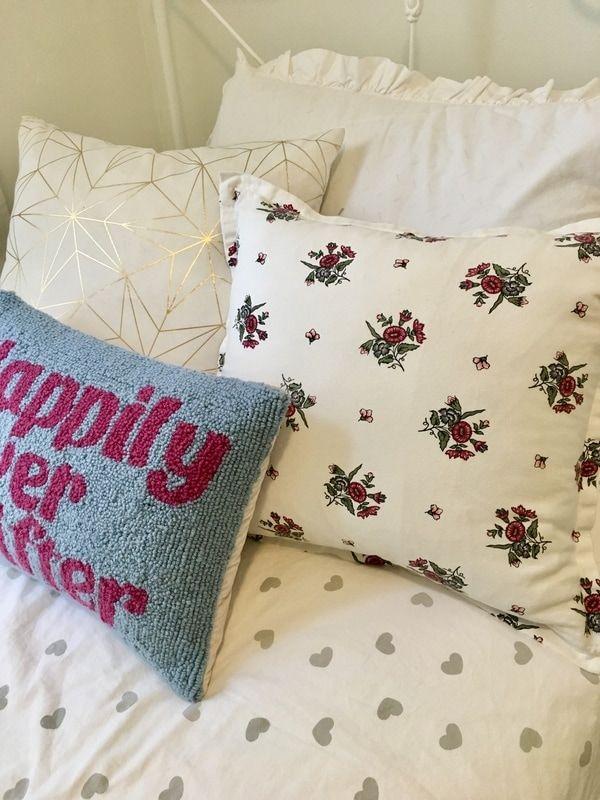 Eclectic throw pillows.