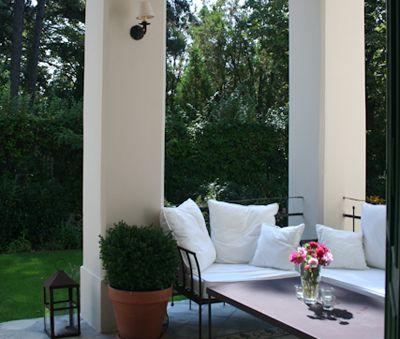 Covered Terrace of Csokonai Luxury Villa at Lake Balaton