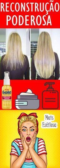 RECONSTRUÇÃO Capilar poderosa e com resultados incríveis. Vai salvar o seu cabelo.