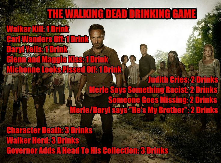 What better way to celebrate the return of The Walking Dead but with TWD Drinking Game!