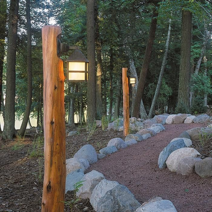 Beautiful Rustic Path Lighting