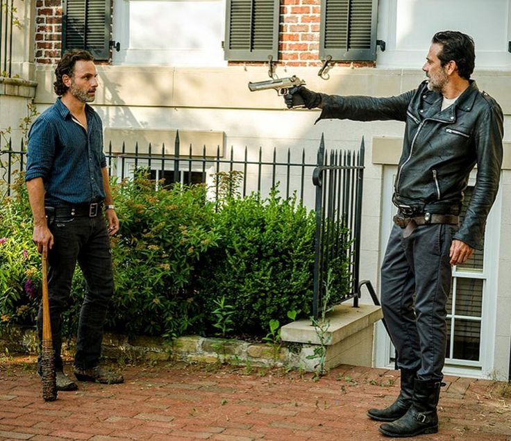 Rick (Andrew Lincoln) is relentlessly tormented and threatened by Negan (Jeffrey Dean Morgan). Negan. Must. Die.
