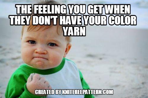 Funny Knitting Memes : Knitfreepattern knitting joke meme