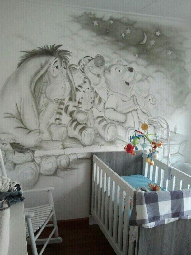 schöne Wandmalerei für Babyzimmer