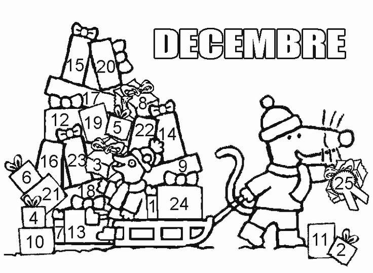 Coloriage de décembre.