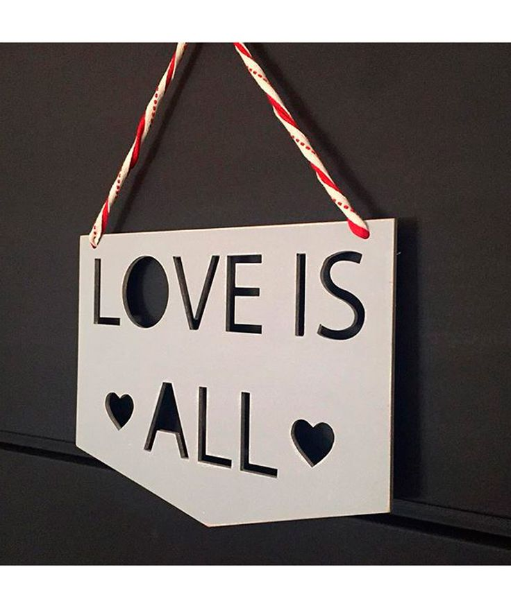 "Regalos que encantan: Cartel ""Love is All"" Talismanario en Dekosas."