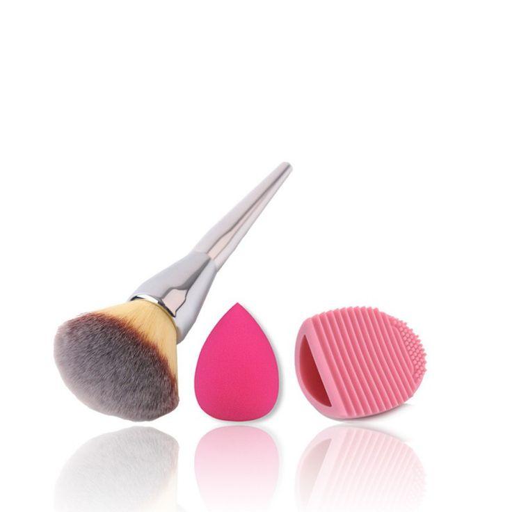 Pas cher 3.63E - 2016 Maquillage Éponge Puff Set Brosses Brosse Cleaner Fondation Brosses Cosmétiques 3 pcs, Acheter  Brosses et instruments de maquillage de qualité directement des fournisseurs de Chine: prévoir délai de +- 3 semaines de livraison gratuite