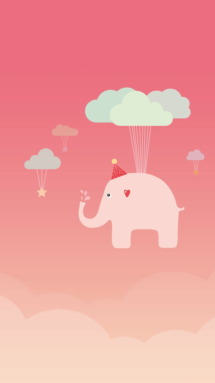 Cute Elephant #iPhone #7 #wallpaper