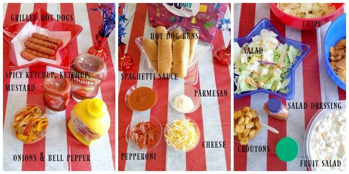 Close up of self-serve hot dog party spread #dothe99 #99centsonlystores