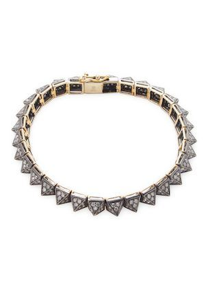 Spike bracelet with Diamonds by Artisan at Gilt