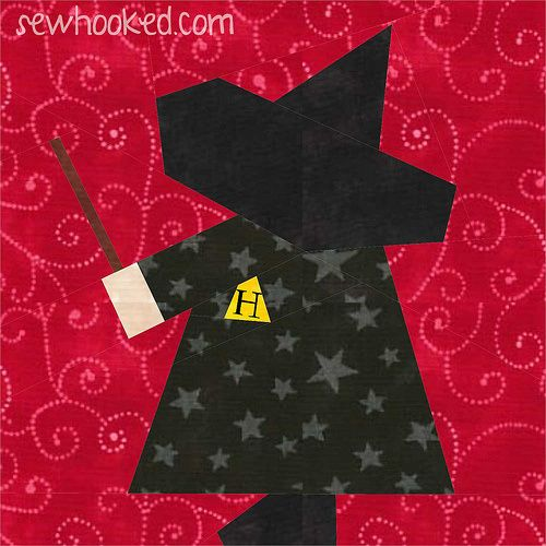 Harry Potter fans, check this out! It's a Sunbonnet Sue paper piecing pattern inspired by our favorite wizard from Hogwarts.