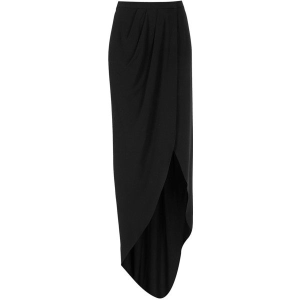 Black Wrap Maxi Skirt, By Boutique, Made In Britain Acetate. Dry Clean Only.