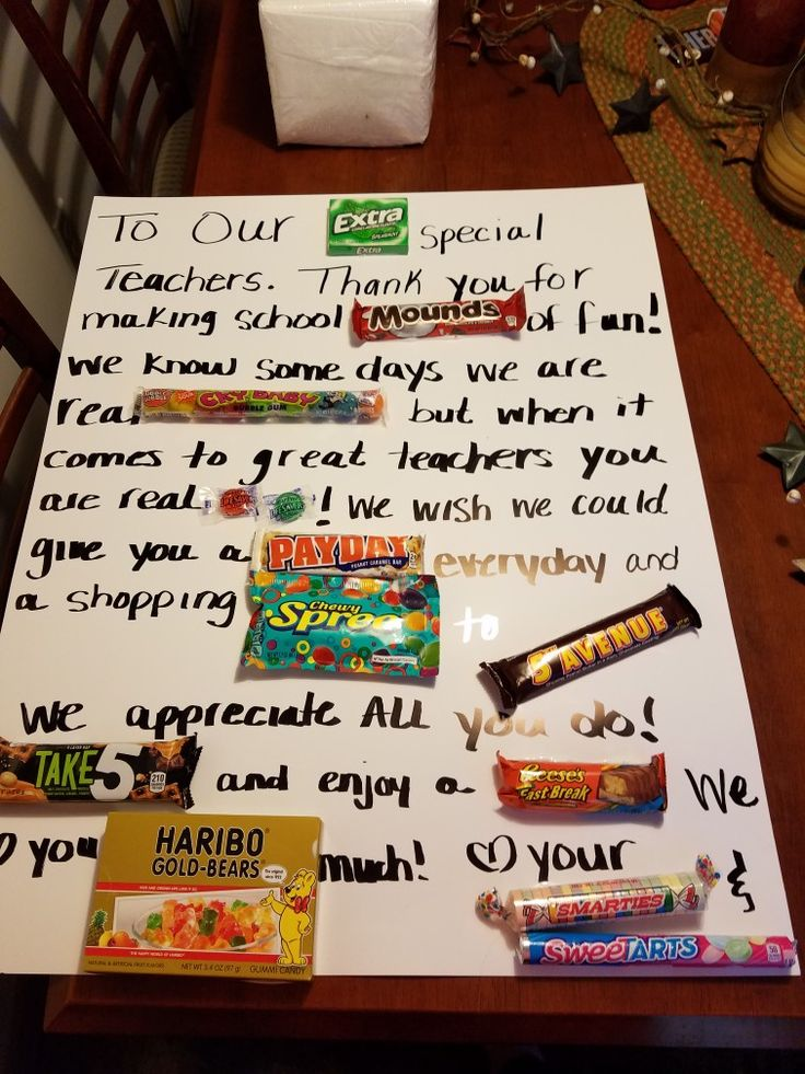 This candy poster is a great gift for teacher appreciation , so easy to make and inexpensive