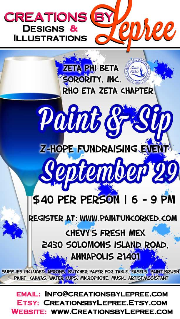 pin it  like it  share it  paint and sip fundraising flyer