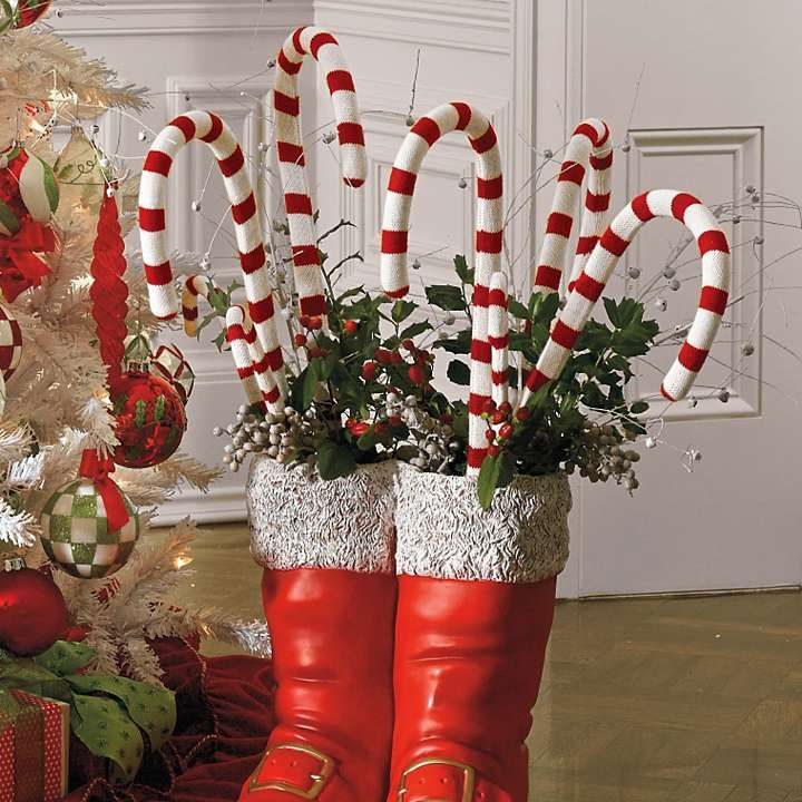 """Large Candy Cane Decorations   Set of Six 16"""" Candy Canes"""